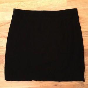 NWT J. Crew black velvet lined mini skirt size 10